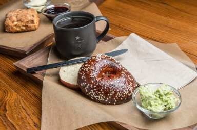 Starbucks Reserve Roastery and Tasting Room_Sesame Bagel_Smashed Edamame