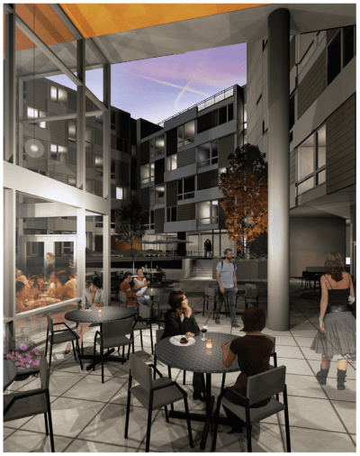 The giant, 200+ unit project planned for the north side of E Madison was planned to have this massive internal courtyard