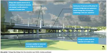 Portage Bay's new non-cabled bridge design