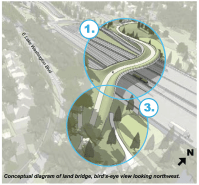 """The """"land bridge"""" from the Montlake lid looks way more fun than it can possibly ever be"""