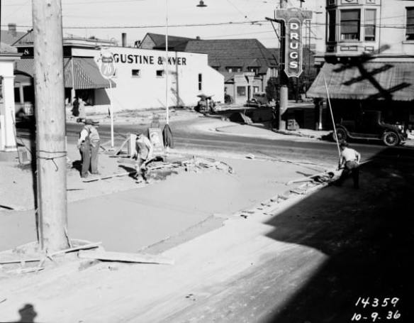 View east over 15th on Republican, 1936 (Seattle Municipal Archives)