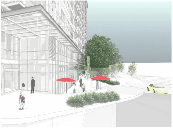 The planned future of Broadway and Madison (Image by Tiscareno Associates)
