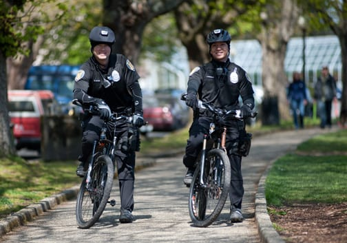 On patrol in Volunteer Park -- an area in Beat C1 likely not lined up for increased patrols (Image: SPD)