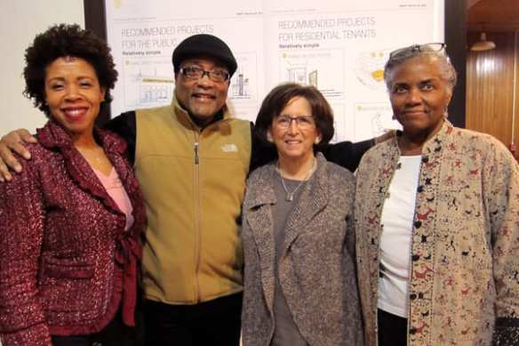 Liberty Bank Advisory Board members (L-R): Michelle Purnell-Hepburn, Derryl Durden, Merle Richlen, and Jocquelyn Duncan at the celebration on March 4th (Image: Joshua Okrent for CHH)