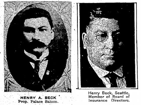 Henry A Beck, 1906 and 1926