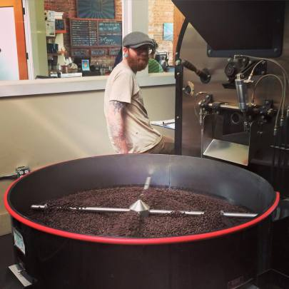 """""""Fraser at the helm of the roaster"""" -- Victrola Coffee Roasters"""