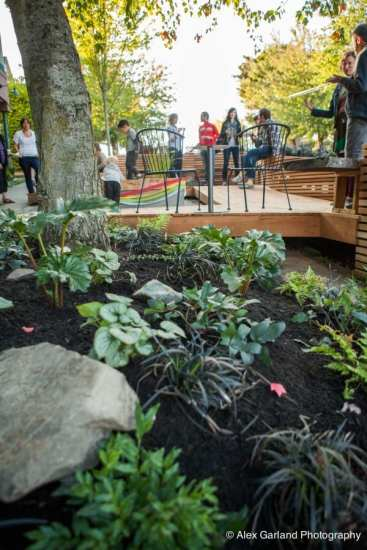A Central District parklet along E Union opened last year between 23rd and MLK (Image: CHS)