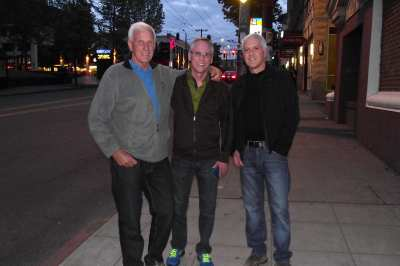 Ralph (center) and Dan (right), with their friend Kap (left)