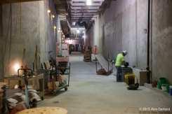 The pedestrian tunnel beneath Broadway