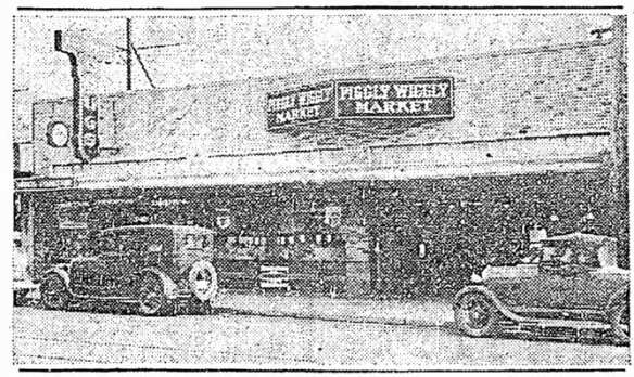 Still branded Piggly Wiggly in 1934 as the building changed hands (Seattle Times, Feb 18)