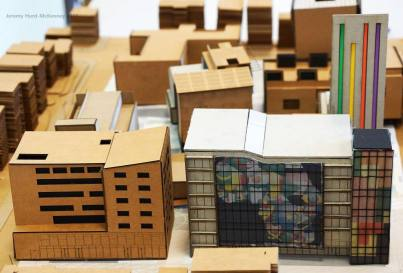 A student model depicting future development at the MidTown Center site (Image: CHS)