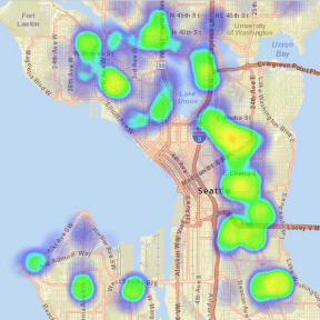 Areas most affected by the bill shown through 3 and 4-story apartment permits + townhouse permits since 2007.