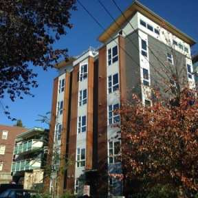 A 5-story microhousing development in a Lowrise 3 zone at 11th and Republican (Image: CHS)