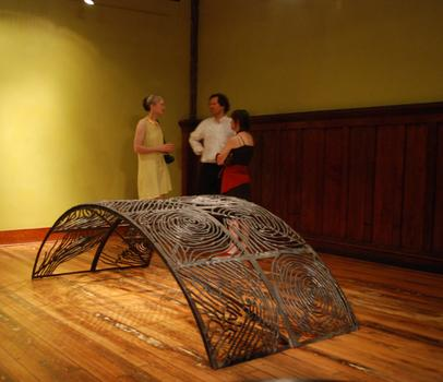 """Martha Dunham, Forge A Bridge For Peace, 2009, Bronze, w 48 x l 96 x h 31 inches"" (Image: local-artists.org)"