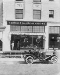Chanslor & Lyon Store Front at 916 E Pike (Bill standing on the left?) circa 1909. Image: Tacoma Library.