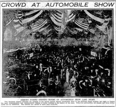 Automobile Show.  February 10, 1914.  Image: Seattle Times.