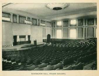 Huntington Hall, MIT. Estimated early 20th century. Image: MIT