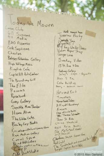 """Sawant had this list from a summer art event of """"iconic"""" closed businesses in hand while pitching a commercial rent control."""