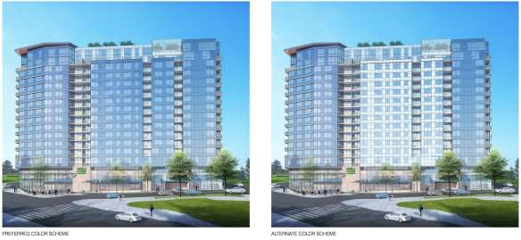 Design review is fun. You can help pick out apartment tower colors.