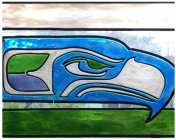"""""""@workshopexcelsior will have a series of #Seahawks theme stained glass pieces + accessories at the next #badwillmarket. She will also have her usuall one of goodies too! Meet her Sunday November 15th from noon to 5pm."""""""