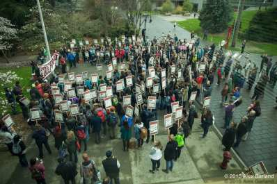 Rally at Seattle U