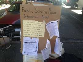 "A ""public service point"" near a homeless encampment"