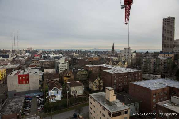 While they were busy changing Capitol Hill's skyline, sometimes the construction cranes also gave CHS a lift (Image: CHS)