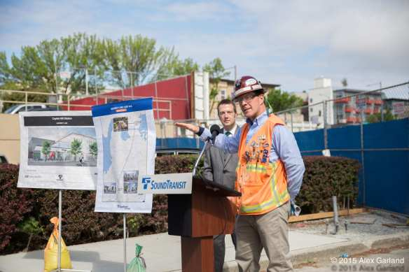 Big announcements for the Hill? McDermott has been there, including May 2015's preview of Capitol Hill Station (Image: CHS)