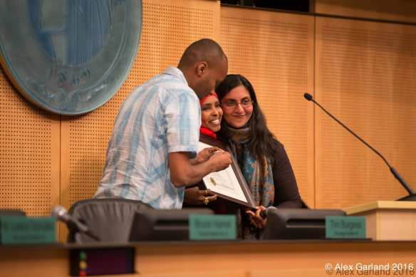 Council member Sawant at her swearing-in ceremony earlier this month
