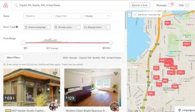 Hundreds of Airbnb hosts list Capitol Hill properties with an average nightly rate around $110 around the Hill's core, and $150 in North Capitol Hill