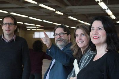 From L to R: Michael Seiwerath, Matthew Richter, Jill Leininger, and Tonya Lockyer in V2; (Image: Dylan Ward)