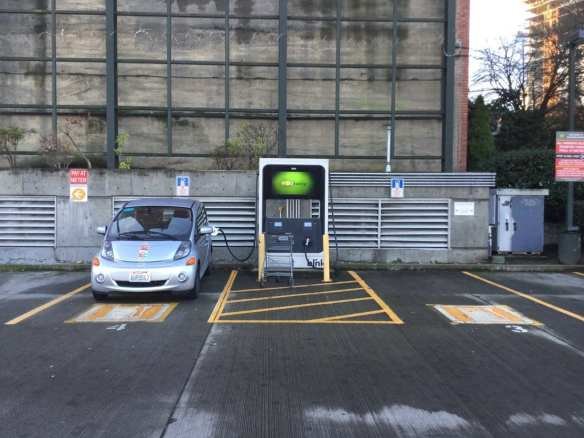 "Seattle ""electric car enthusiast"" Lee Colleton's Twitter feed -- @sleepylemur -- is one part local travelogue, one part guide to charging stations, one part commentary -- """" (Image: Lee Colleton via Twitter)"