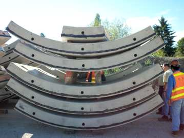 The cement ring sections placed to form the tunnel by the TBMs (Image: Sound Transit)