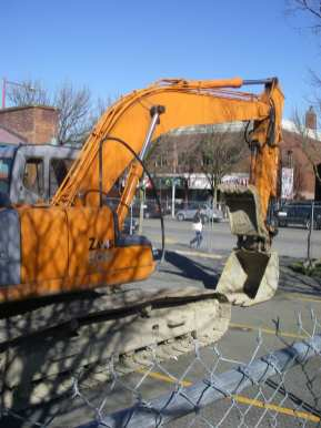 The first day of construction on Capitol Hill in 2010 came with little fanfare (Image: CHS)