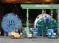 The tunnel boring machines arrive (Image: Sound Transit)