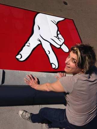 Capitol Hill artist Ellen Forney created the giant walking fingers panels on display inside the station (Image: Ellen Forney)