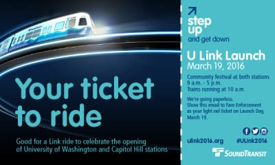 """You'll need this """"ticket"""" to ride free Saturday -- but don't print it out. Sound Transit said you'll be able to show it on your phone."""