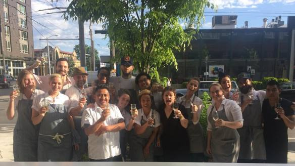 Erickson and crew celebrate the win (Image: Eat Sea Creatures)