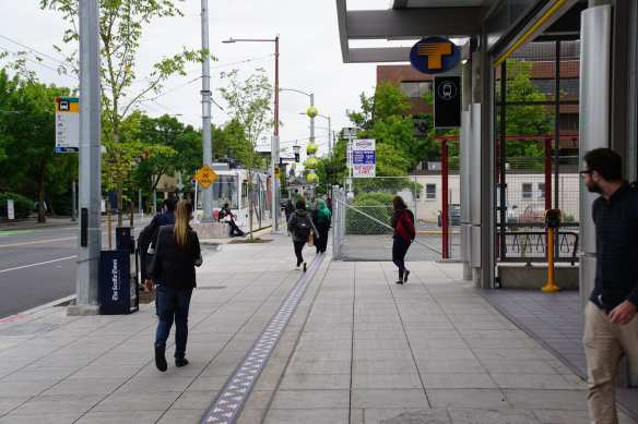 The Site D development will tower over Capitol Hill Station's western Broadway entrance (Image: CHS)