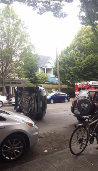 Thanks to a neighbor for the picture from the scene Monday