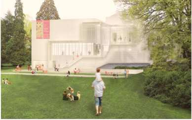 Images from SAAM's brochure on the expansion concepts show the vision for the new east side expansion...