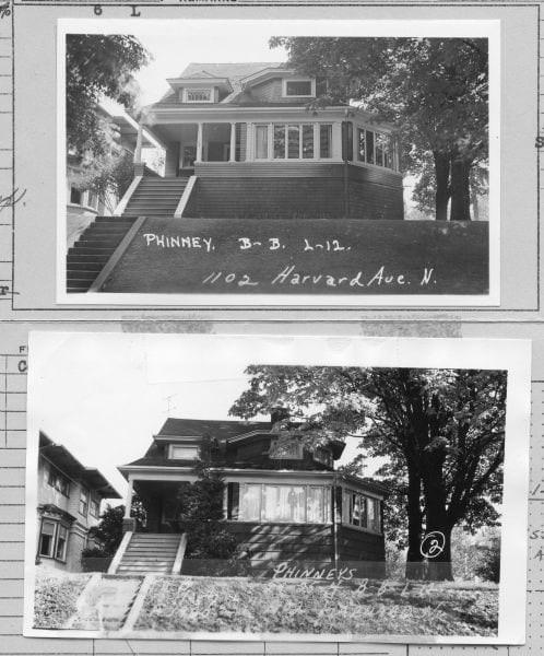 1102 Harvard Ave N, 1937 and 1957