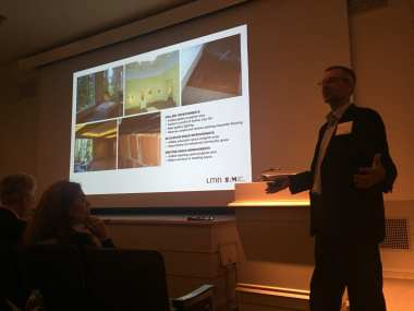 LMN architect Sam Miller presenting Thursday. (Image: CHS)