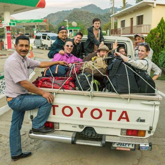 Seattle Coffee Works crew visiting coffee farms in Huehuetenango, Guatemala (Image: Alan Alabastro/Seattle Coffee Works)