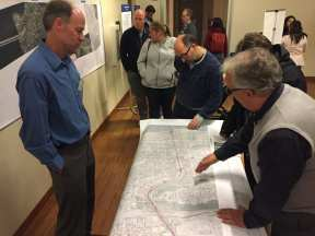 Residents inspected station plans on Tuesday. (Image: CHS)