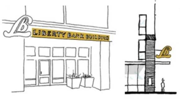 The building will incorporate culture elements including Liberty Bank branding