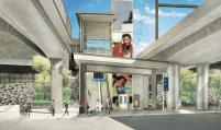 The station entrance on Rainier.