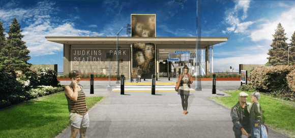 The entrance from 23rd Ave. (Images: Sound Transit)