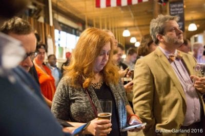 Herbold was doing some different math Tuesday on Election Night at Pramila Jayapal's victory party (Image: CHS)