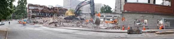 Demolition to make way for the Broadway Whole Foods